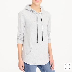 J. Crew Terrycloth Speckled Pullover Hoodie